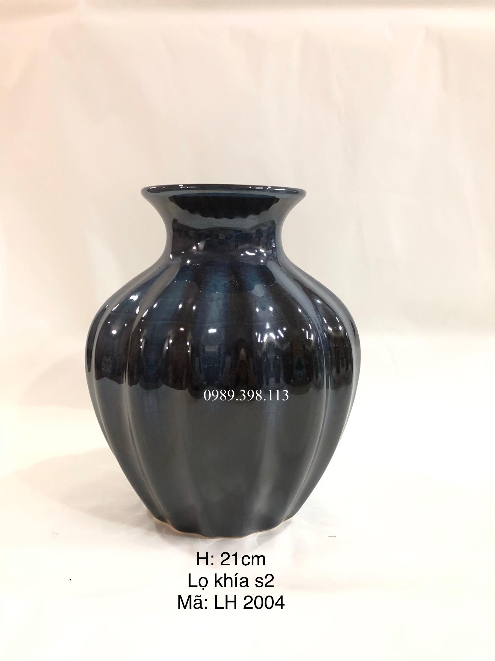 Lọ cắm hoa men xanh LH2004