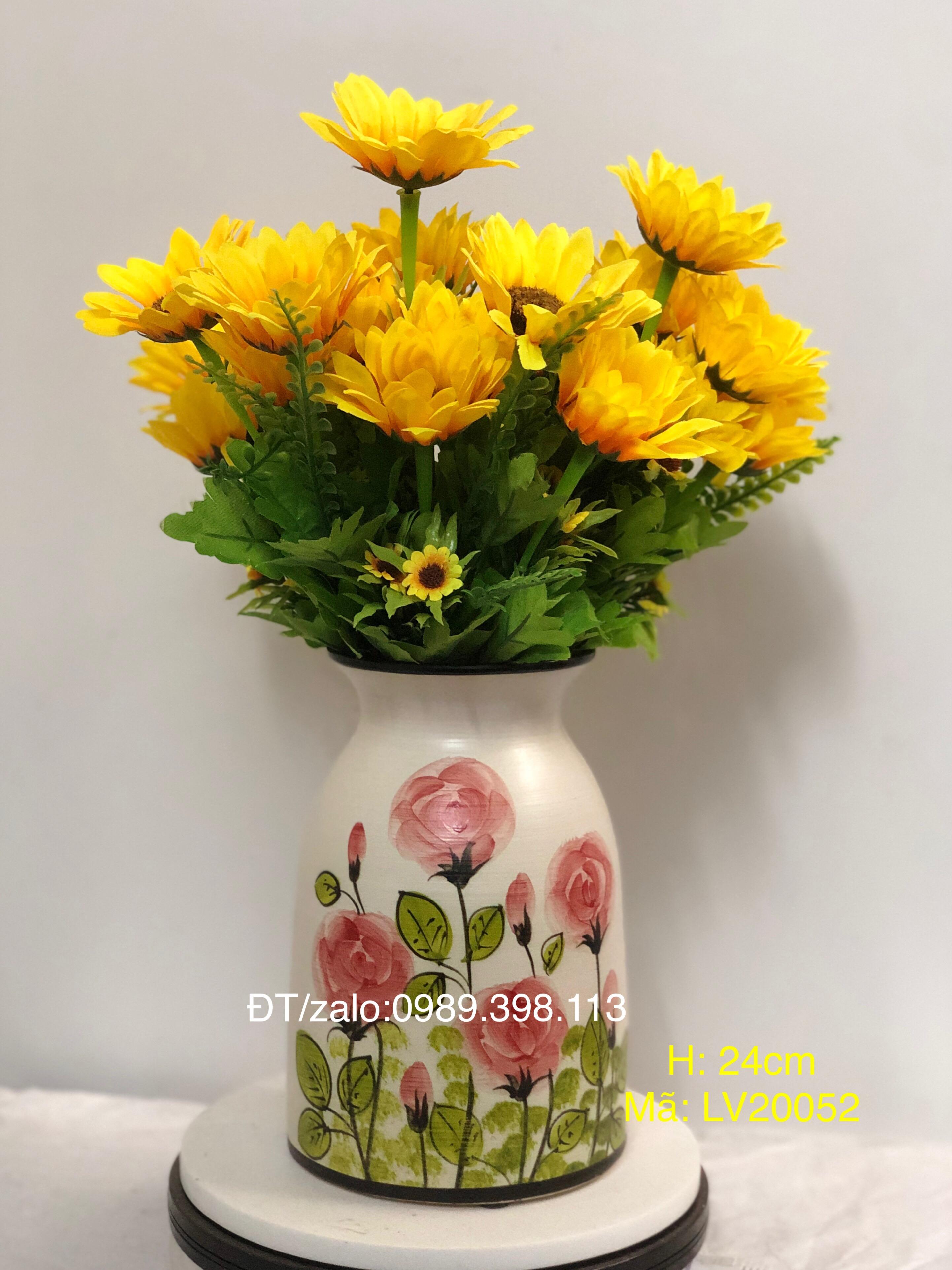 Lọ cắm hoa vẽ cảnh LV20052